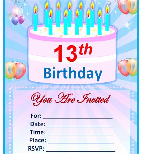 Editable Birthday Invitations Templates Free Beautiful Sample Birthday Invitation Template 40 Documents In Pdf