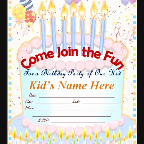 Editable Birthday Invitations Templates Free Fresh 63 Printable Birthday Invitation Templates Pdf Psd Word