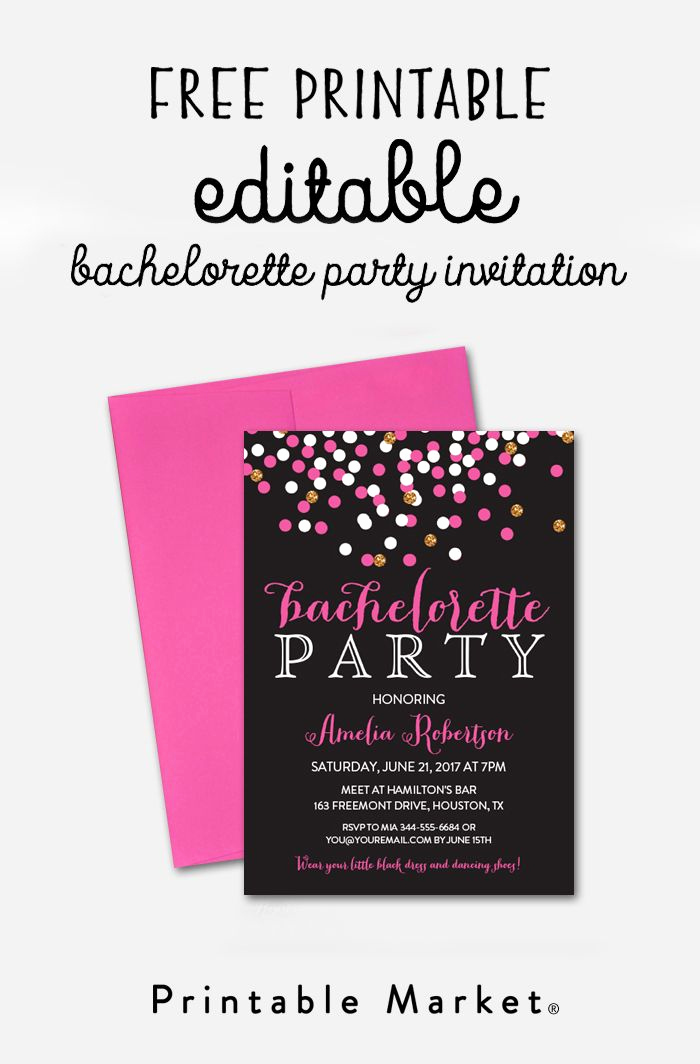 Editable Birthday Invitations Templates Free Inspirational Free Editable Bachelorette Party Invitation – Gray Hot