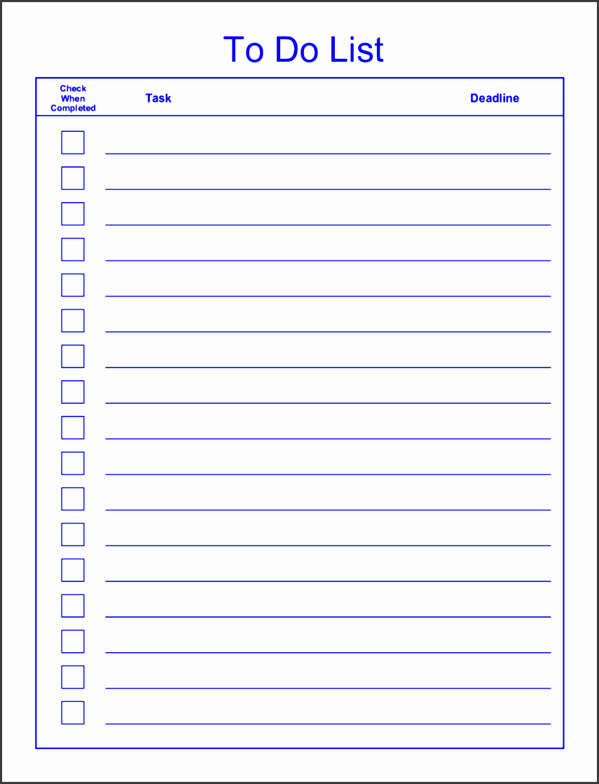Editable Checklist Template Word Best Of 6 Editable to Do List Template Sampletemplatess