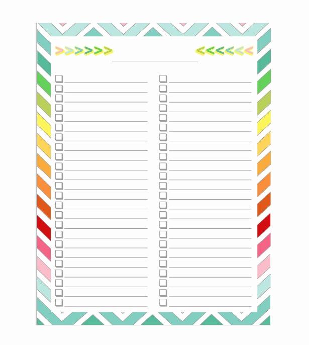 Editable Checklist Template Word New 50 Printable to Do List & Checklist Templates Excel Word