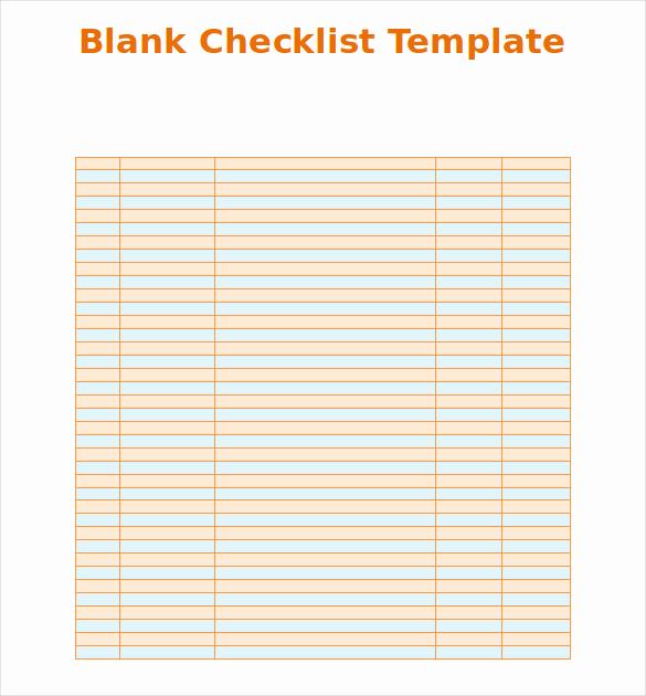 Editable Checklist Template Word New Blank Checklist Template 36 Free Psd Vector Eps Ai