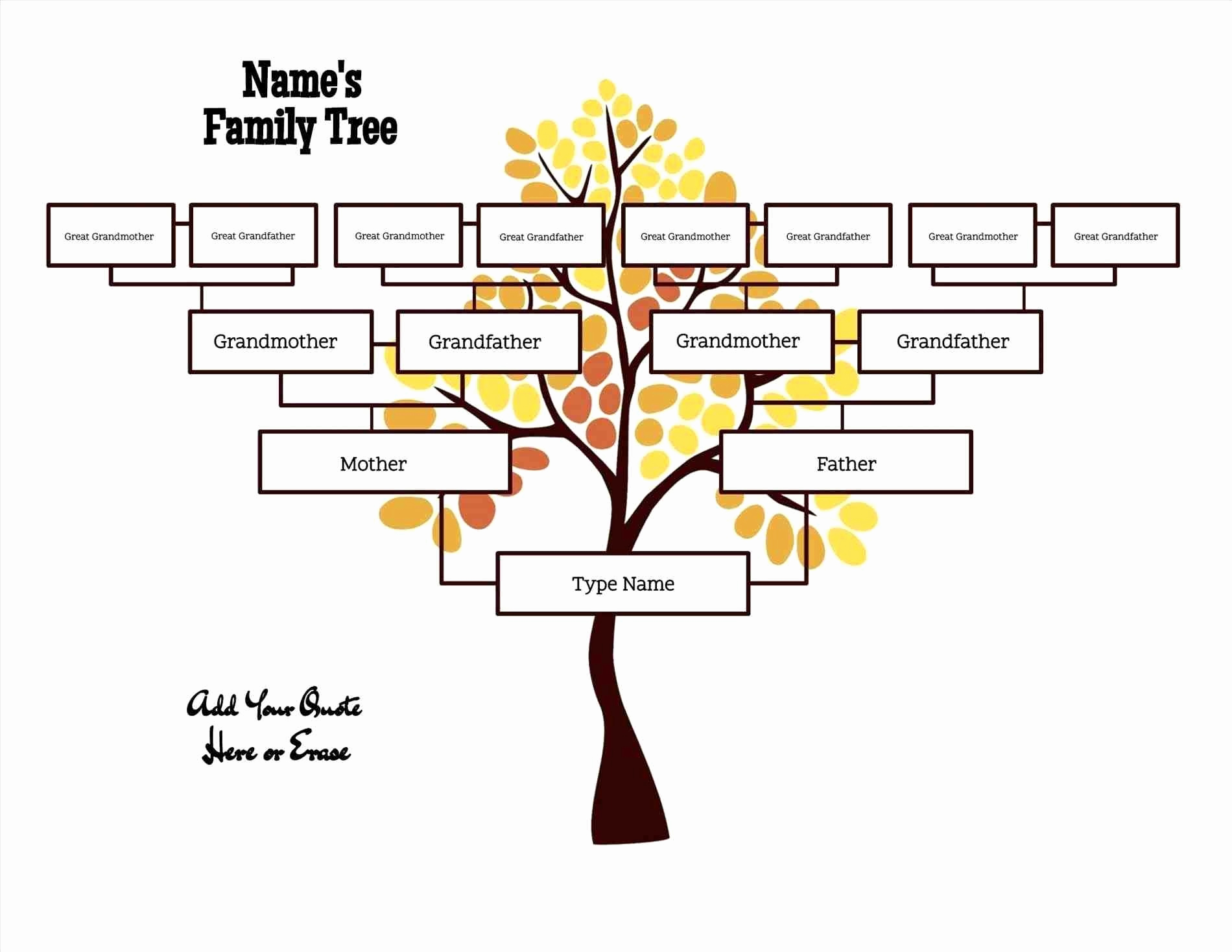 Editable Family Tree Template Best Of Free Editable Family Tree Template Daily Roabox