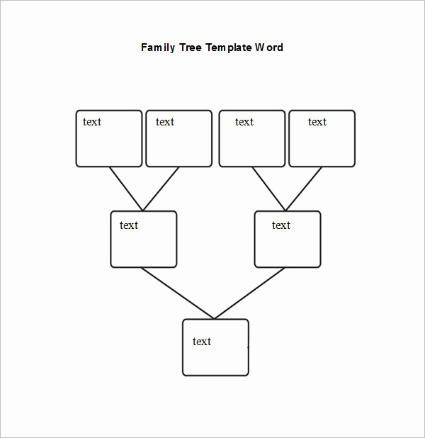 Editable Family Tree Template Fresh Blank Family Tree Chart 6 Free Excel Word Documents