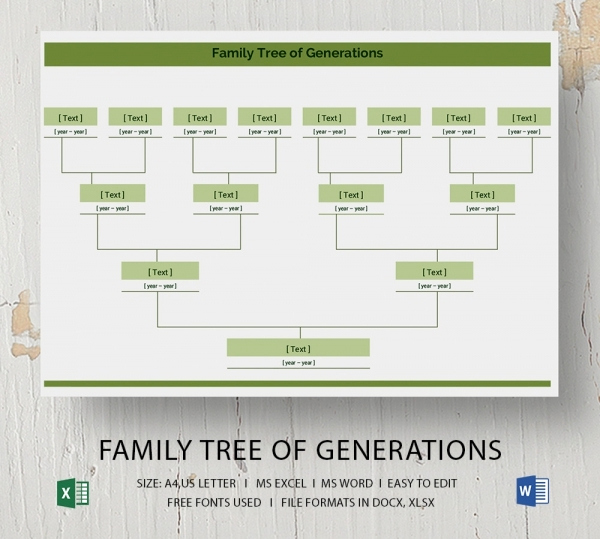Editable Family Tree Template Lovely Blank Family Tree Template 32 Free Word Pdf Documents