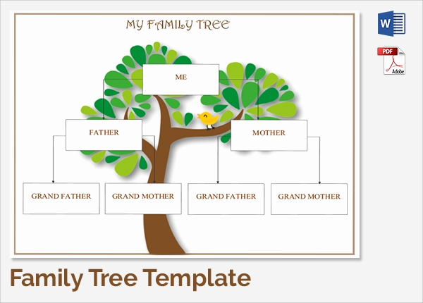 Editable Family Tree Template Luxury Sample Family Tree Chart Template 17 Documents In Pdf