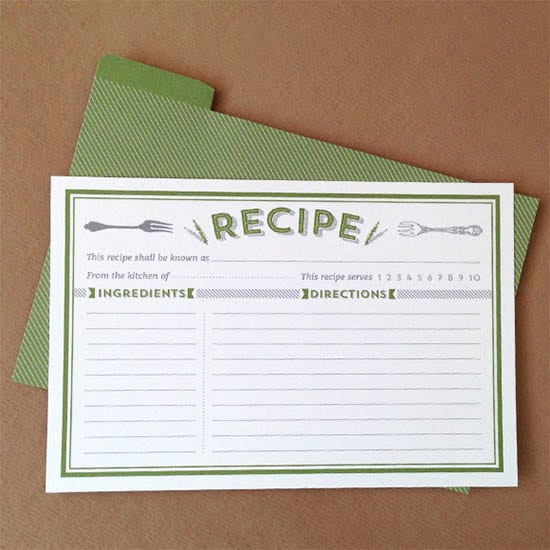 Editable Recipe Card Template Awesome 8 Free Recipe Card Templates Excel Pdf formats