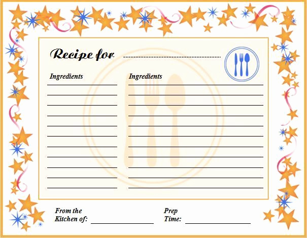 Editable Recipe Card Template Best Of Free Editable Recipe Card Templates for Microsoft Word