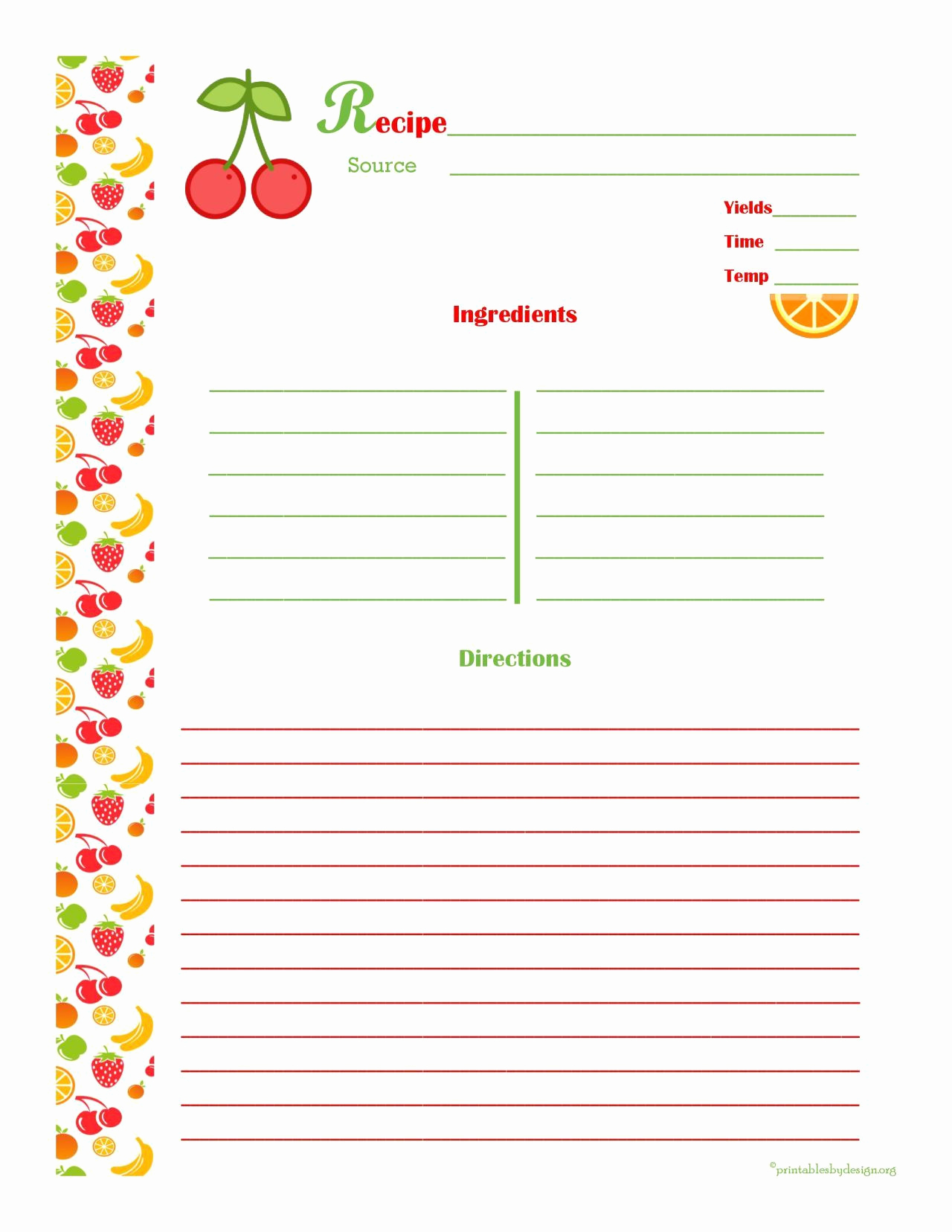 Editable Recipe Card Template Fresh Free Editable Recipe Card Templates for Microsoft Word