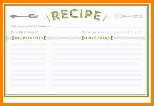 Editable Recipe Card Template New 5 Free Editable Recipe Card Templates for Microsoft Word