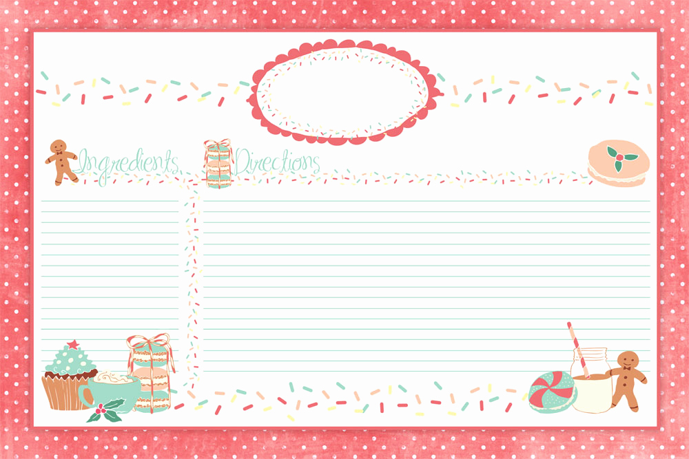 Editable Recipe Card Template New Editable Recipe Card Template Calendar June