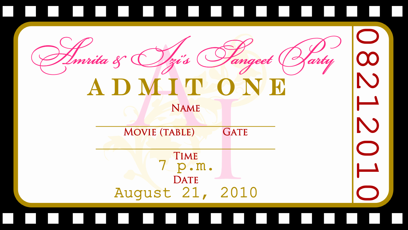Editable Ticket Template Free Beautiful Free Templates for Birthday Invitations