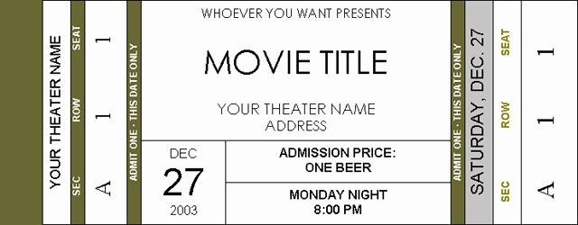 Editable Ticket Template Free Elegant Movie Ticket Invitations Page 2 Avs forum