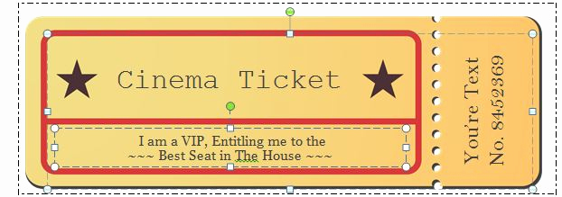 Editable Ticket Template Free Luxury 41 Free Editable Raffle & Movie Ticket Templates Free