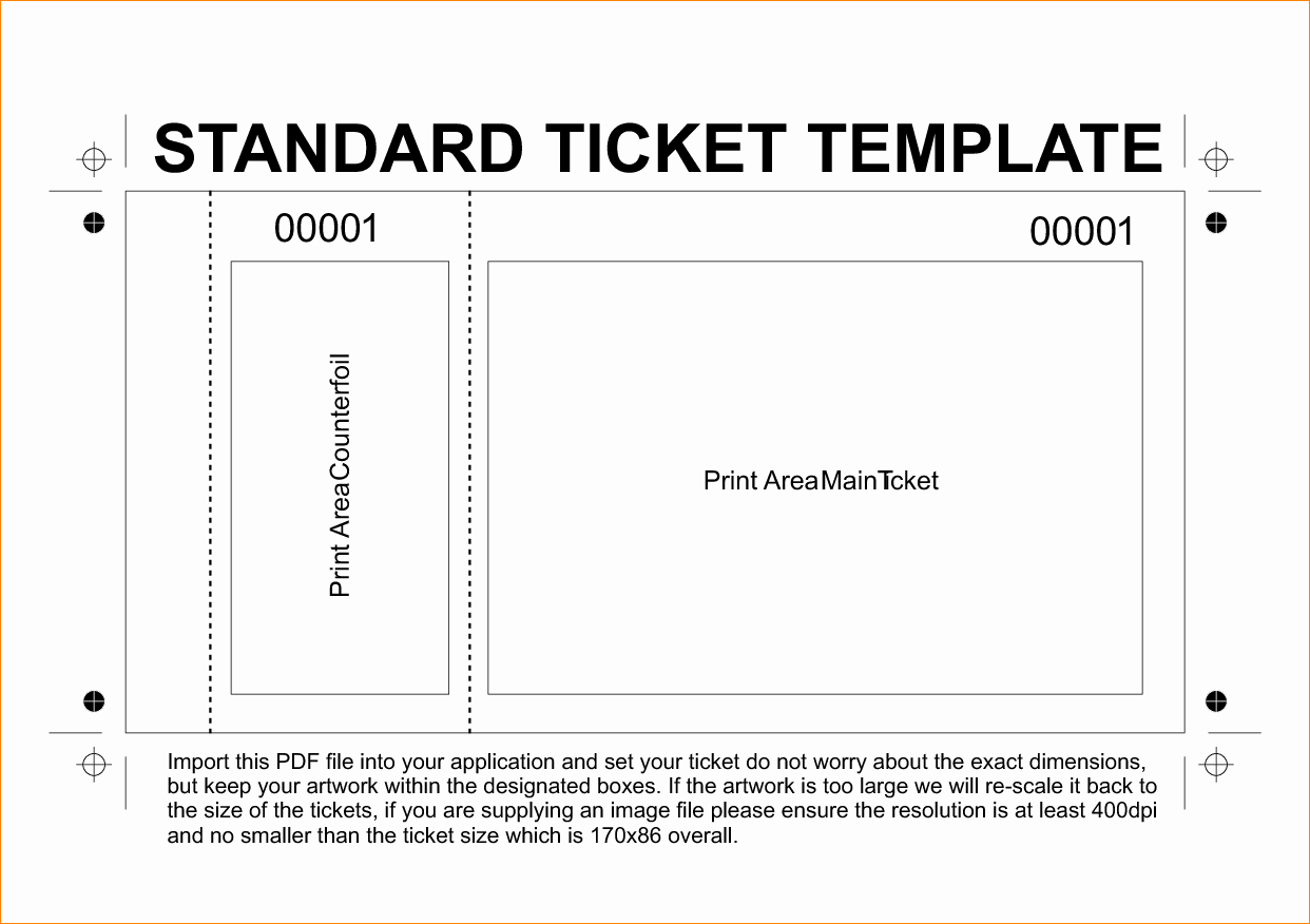 Editable Ticket Template Free Unique 36 Editable Blank Ticket Template Examples for event Thogati