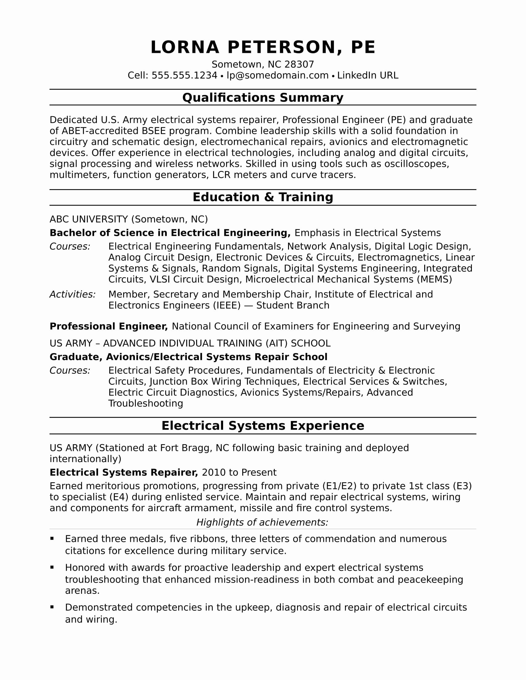 Electrical Engineer Resume Sample Inspirational Sample Resume for A Midlevel Electrical Engineer