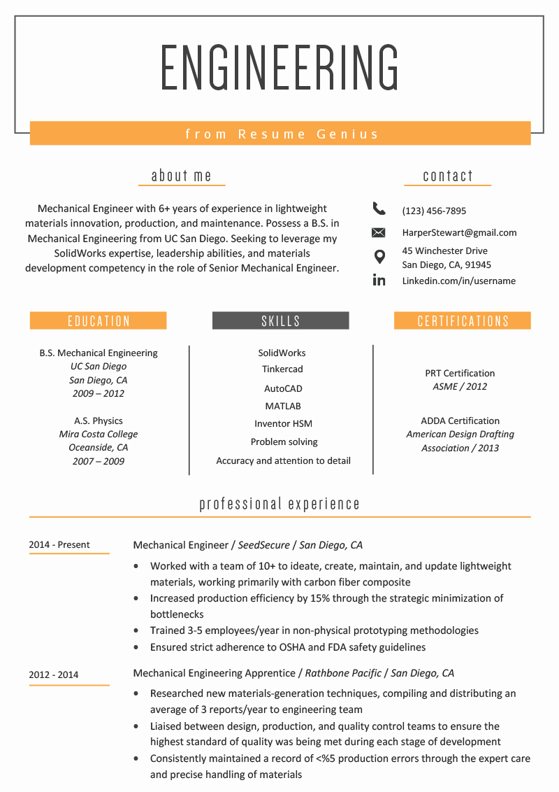 Electrical Engineer Resume Sample Luxury Engineering Resume Example & Writing Tips