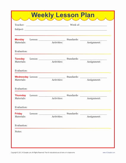 Elementary Lesson Plan Template Beautiful Weekly Detailed Lesson Plan Template Elementary