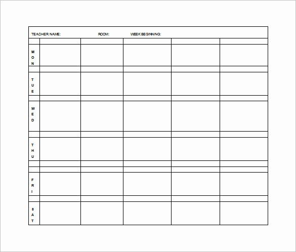 Elementary Lesson Plan Template Unique Elementary Lesson Plan Template 11 Free Word Excel