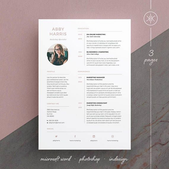 Elements Of A Cover Letter Fresh Abby Resume Cv Template Word Shop