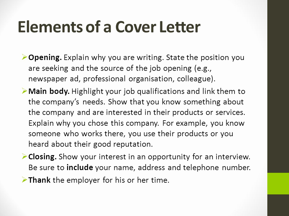 Elements Of A Cover Letter Unique Applying for A Job Ppt Video Online