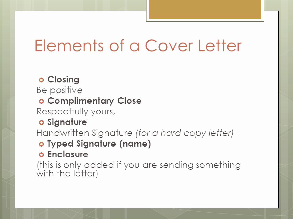 Elements Of A Cover Letter Unique Job Application Letter Cover Letter Ppt Video Online