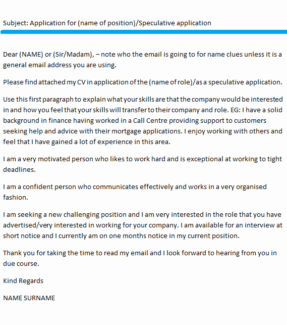 Email Cover Letter Example Awesome Email Cover Letter Example Icover