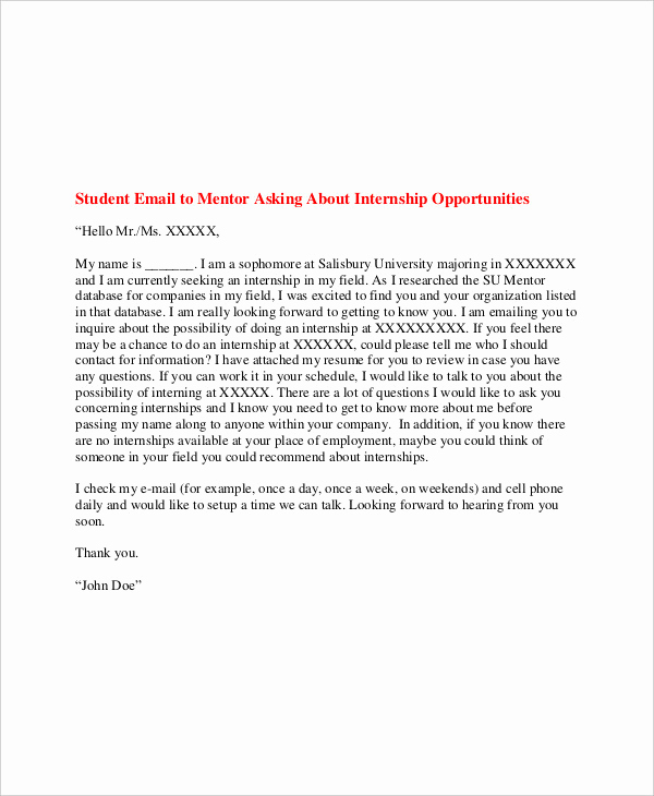 Email Cover Letter Example Lovely 21 Email Cover Letter Examples & Samples