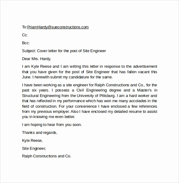 Email Cover Letter Example New 10 Email Cover Letter Examples to Download