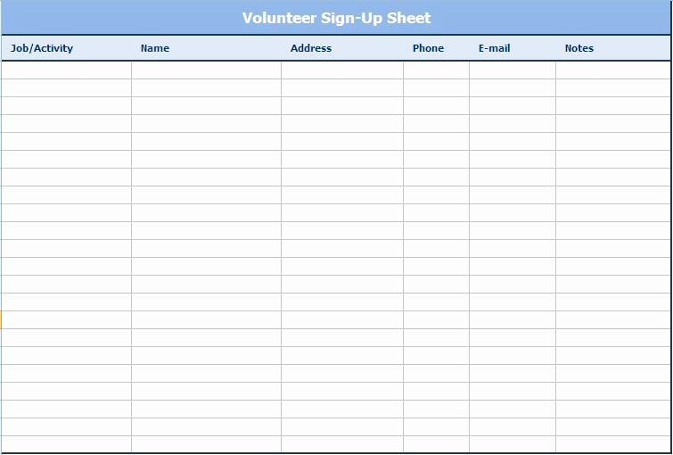 Email Sign Up Sheet Awesome Email Sign Up Sheet