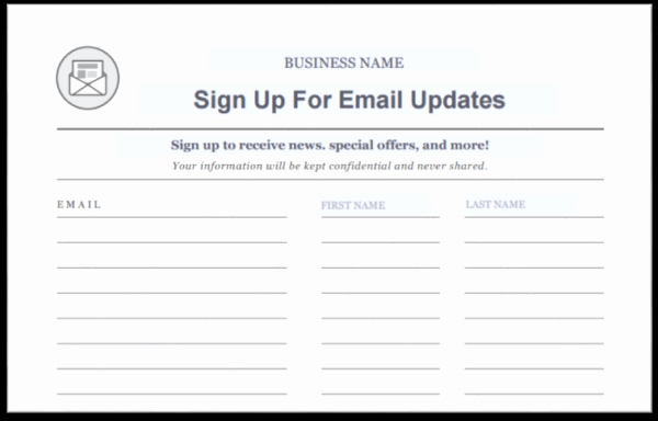 Email Sign Up Sheet Fresh 15 Creative Ways to Grow Your Email List