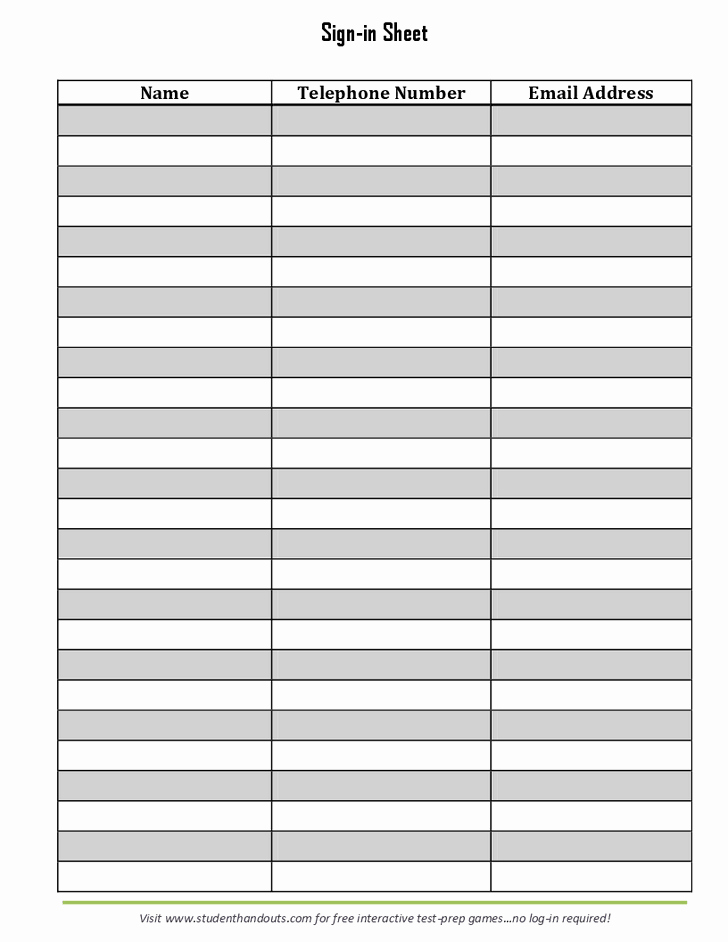 Email Sign Up Sheet Template Fresh 28 Of Email Log Template