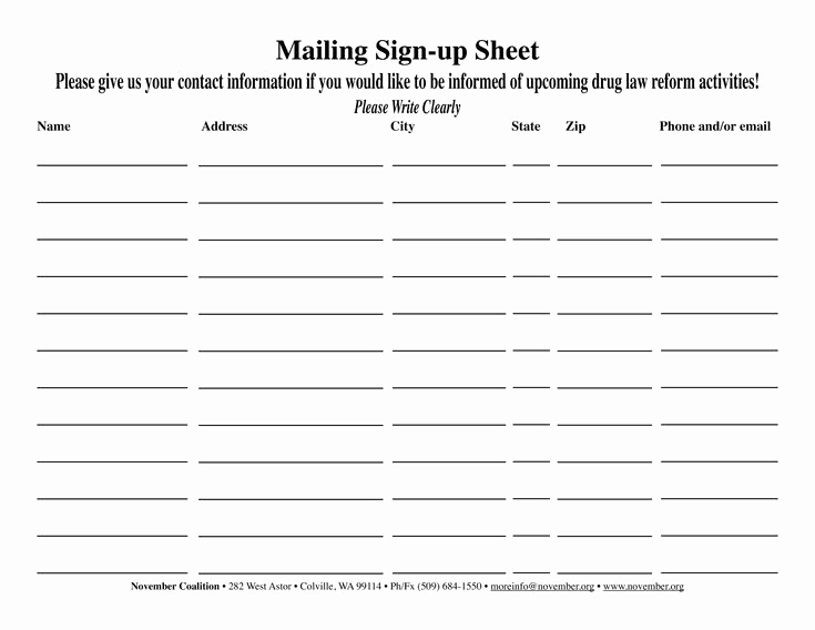 Email Sign Up Sheet Template Luxury 38 Best Sign Up Images On Pinterest