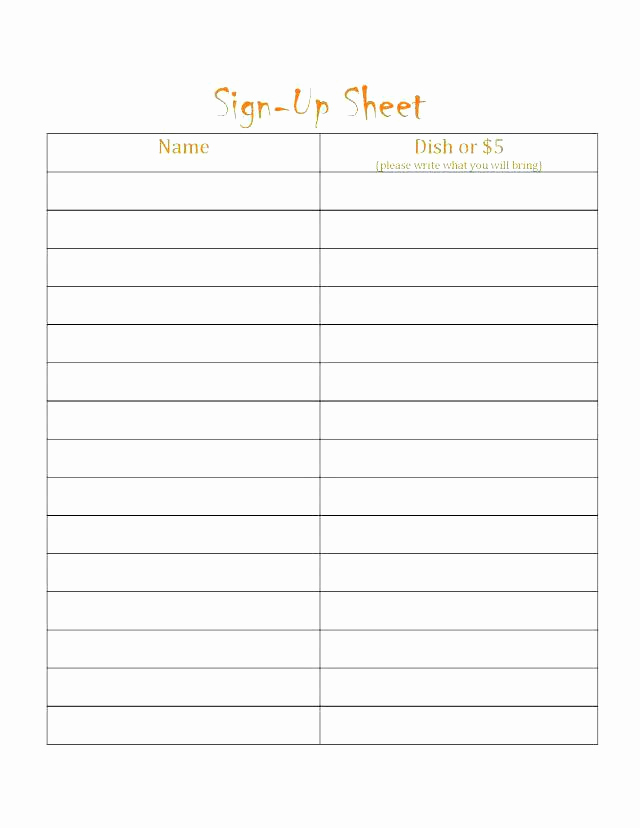 Email Sign Up Sheet Template Unique 13 Blank Sign In Sheets