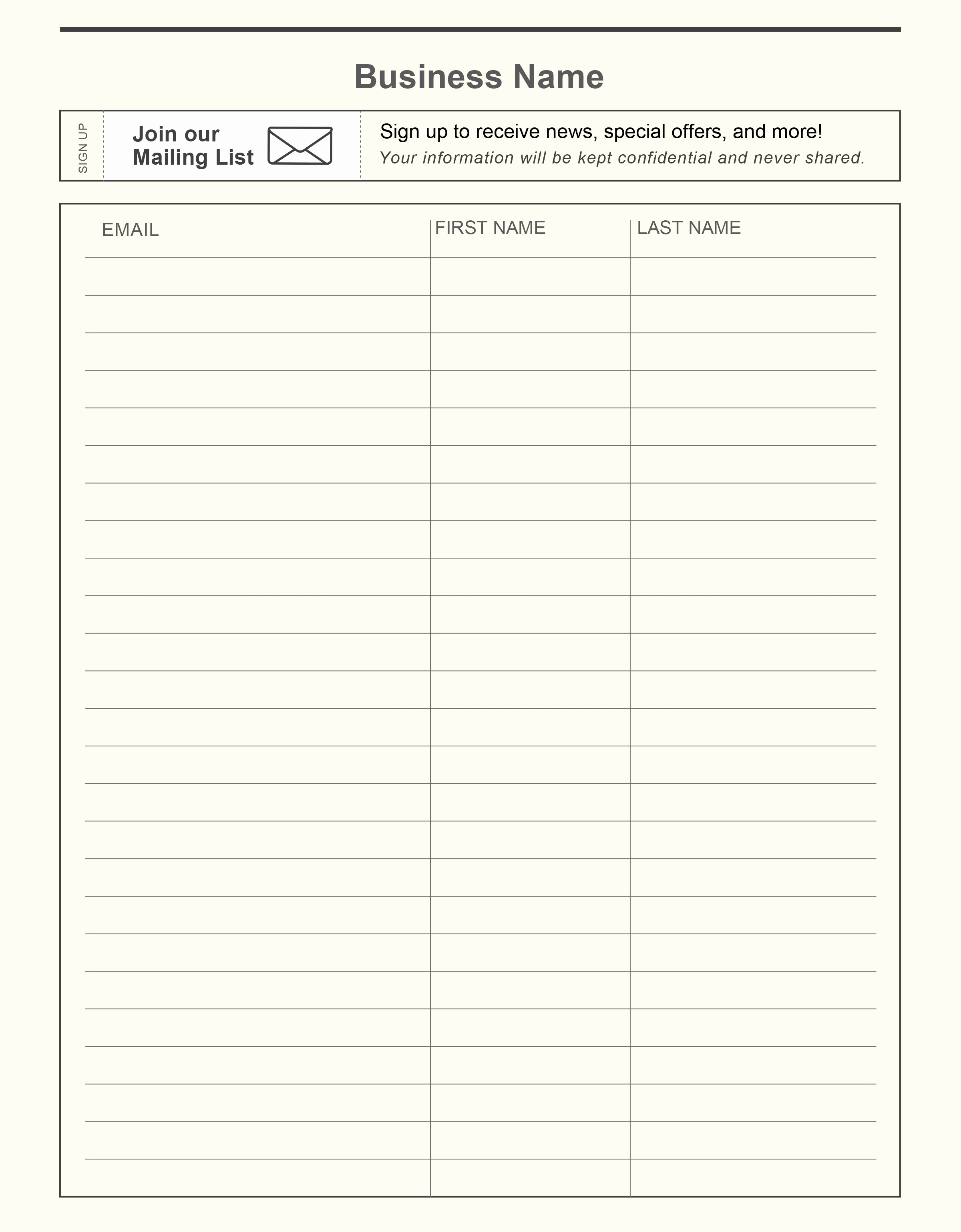 Email Sign Up Sheet Template Unique Pin by Constant Contact On Email Marketing Tips and Best