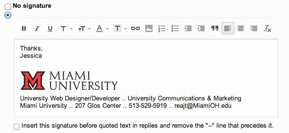 Email Signature for College Student Elegant Add the Miami Logo to Your Email Signature Miami University