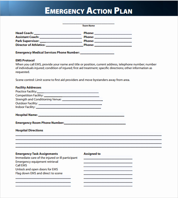 Emergency Action Plans Examples Awesome Sample Emergency Action Plan 11 Free Documents In Word Pdf