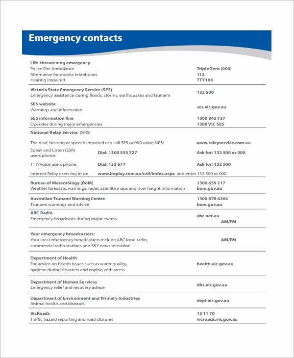 Emergency Action Plans Examples Beautiful Sample Emergency Action Plan 11 Free Documents In Word Pdf