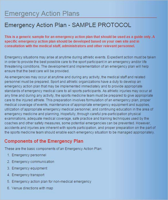 Emergency Action Plans Examples Best Of Emergency Action Plan Template 15 Free Word Excel Pdf