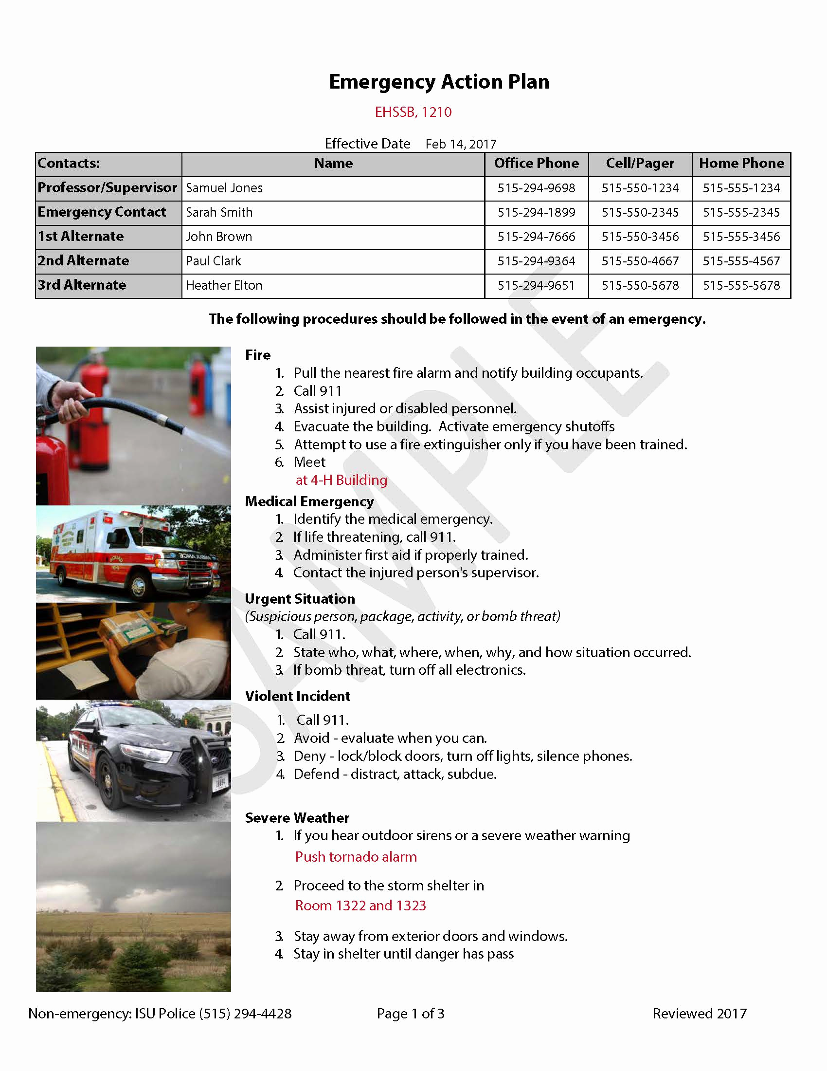 Emergency Action Plans Examples Luxury Emergency Action Plans