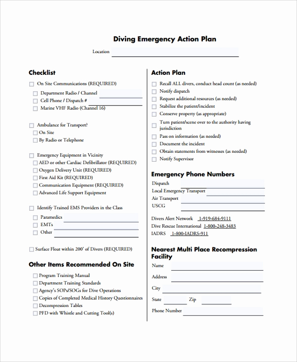 Emergency Action Plans Examples New 7 Emergency Action Plan Samples Examples & Templates
