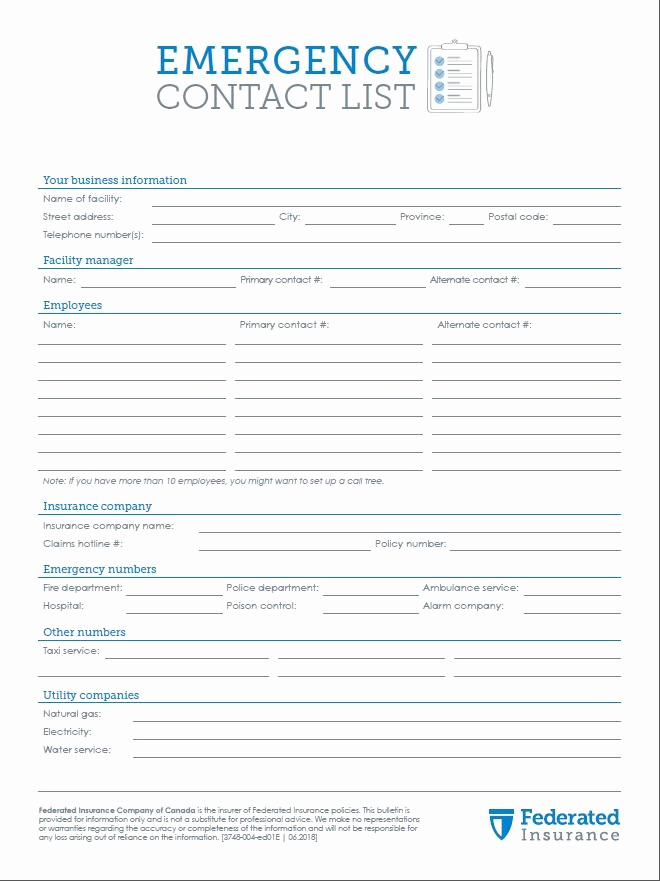 Emergency Contact form Template Awesome How to Create Your Emergency Contact List Using Our Free