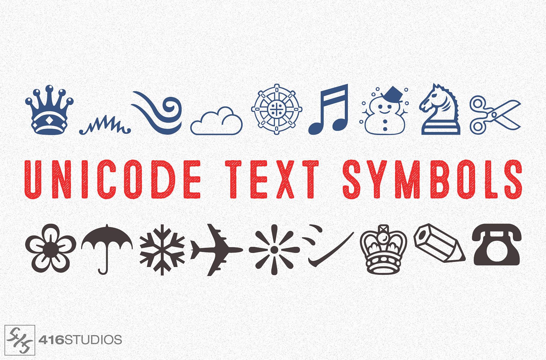 unicode text symbols emoji