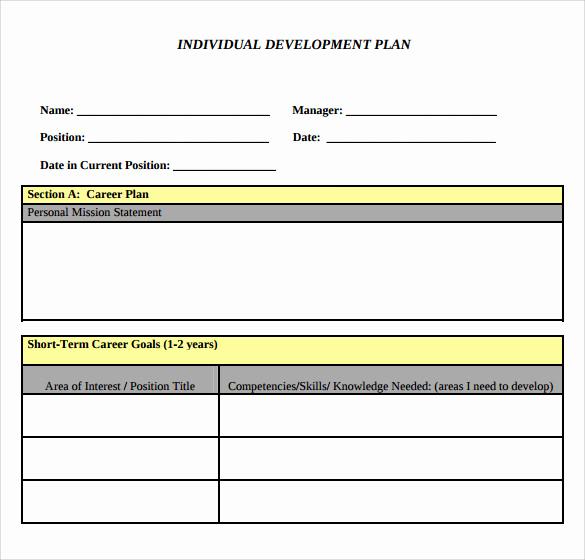 Employee Development Plan Examples Inspirational 9 Development Plan Templates to Free Download