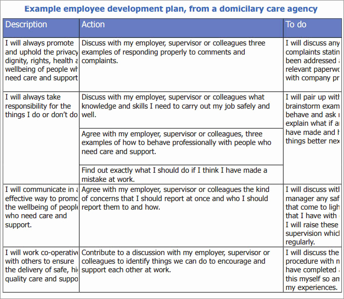 Employee Development Plan Templates Best Of Employee Development Plan Template