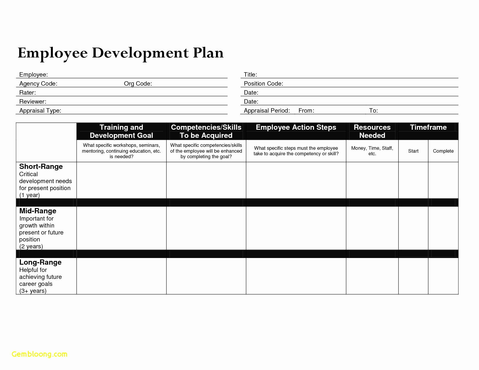 Employee Development Plan Templates Fresh Download Career Path Template Excel