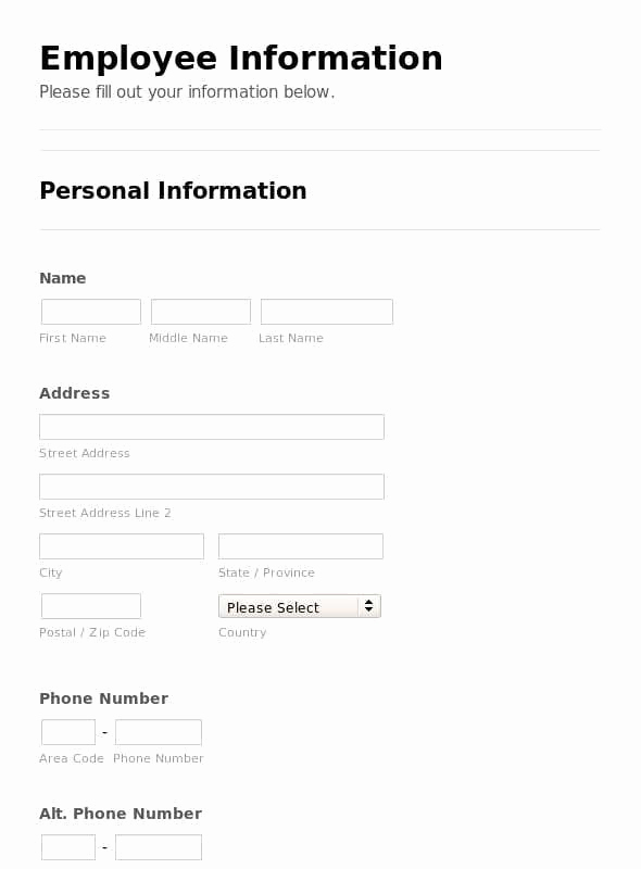 Employee Emergency Contact forms Lovely 5 Employee Emergency Contact forms Word Excel Templates