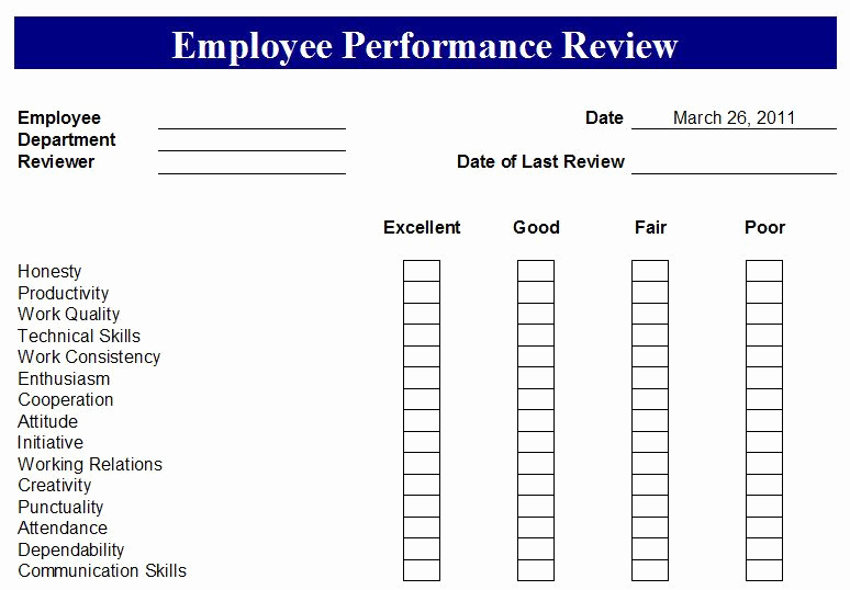 Employee Evaluation form Pdf New Free Employee Evaluation forms Printable Google Search