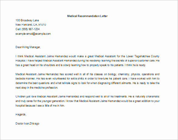 Employee Letters Of Recommendation Inspirational Letter Of Re Mendation for Employment – 9 Free Word