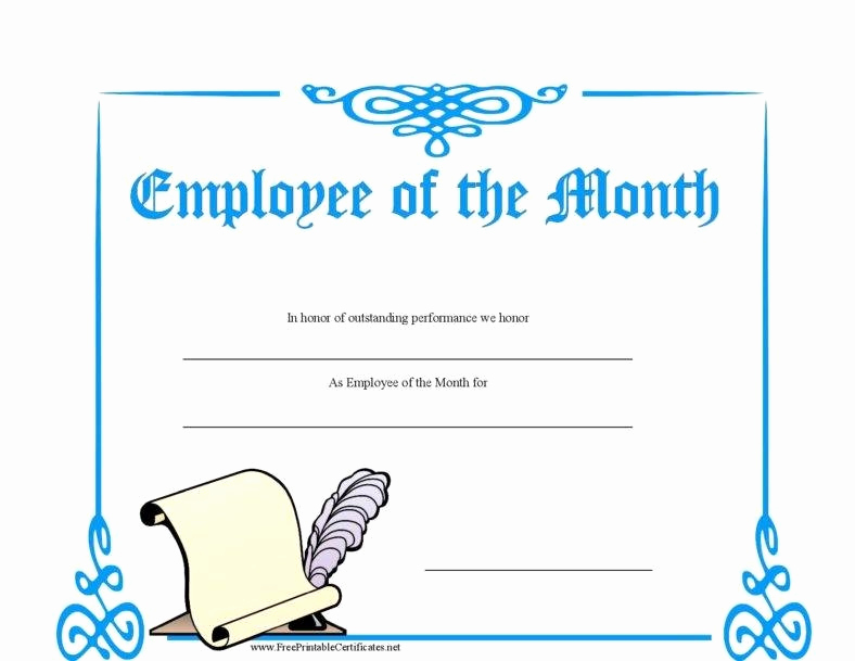 Employee Of the Month Template Best Of 8 Employee Recognition Certificates